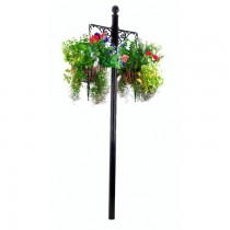Durable Wrought Iron Hanging Basket With Stand