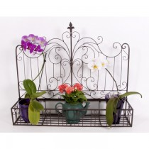 Durable Wrought Iron Scroll Work Planter Stand