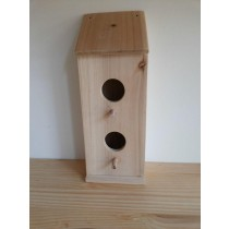 Eco-Friendly Wooden Bird House