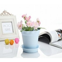 Elegant Blue Color Plastic Pot