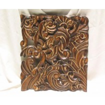 Elegant Burnt Finish Floral Wall Decor
