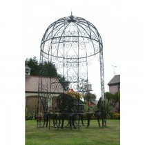 Elegant Design Black Paint Finish Metal Gazebo
