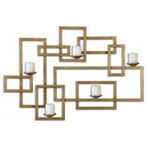 Elegant Design Gold Metal Wall Candle Sconce