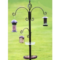 Elegant Design Metal Bird Feeding Station Set