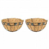 Elegant Design Metal Hanging Basket Set of 2 Pcs