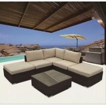 Elegant Design PE Rattan Corner Sofa Set