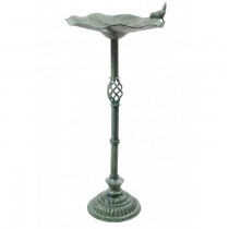 Elegant Hand Made Antique Verdigris Finish Bird Bath
