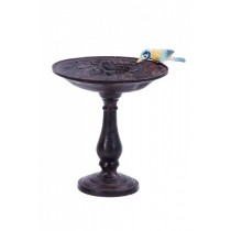 Elegant Rustic Brown Finish Aluminium Bird Bath