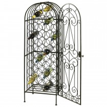 Elegant Wrought Iron 45 Bottle Wine Rack