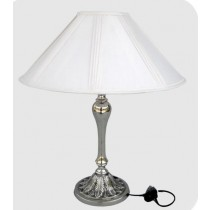 Embossed Round Base Lamp, 28 Inches