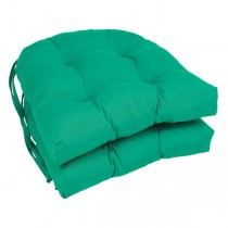 Emerald 16 Inch U Shaped Cushion With Ties