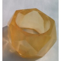 Fashion Yellow Color Top Round Napkin Ring