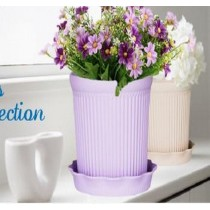 Fashionable Purple Color Roman Stripe Pot