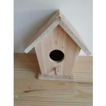 Fir Wood Decorative Unique Shape Wooden Bird House