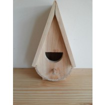 Fir Wood Modern Shape Wooden Bird House