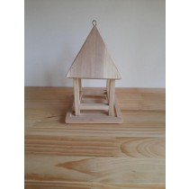 Fir Wooden Hanging Bird Feeder