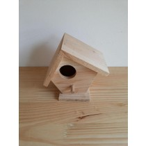 Fire Wooden Bird House