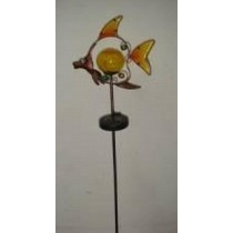 Fish Shape Orange With Warm White LED Solar