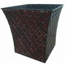 Flared Square 11 Inch Metal  Planter