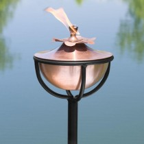 Floor Stand With Copper Garden Torch