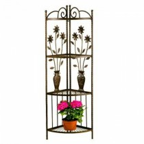 Floral and Vase Design Steel Plant Stand