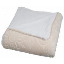 Floral Etched Fleece Queen Size Throw