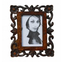 Flower Cornered 5 x 7 Size Photo Frame