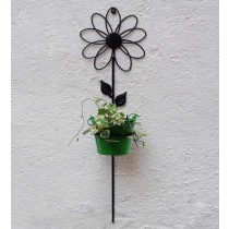 Flower Design Bracket with Green Bucket Planter