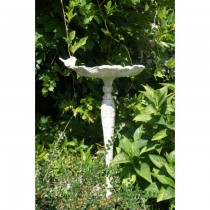 Flower Design Cast Iron Bird Bath