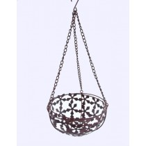 Flower Design Iron Hanging Basket