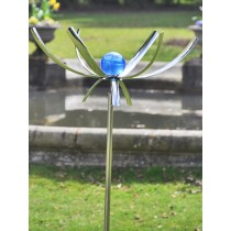 Flower Design Solar Stainless Steel Weathervanes