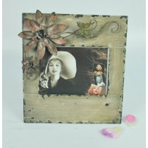 Flower Metal Carving Shabby Chic Photo Frame