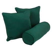 Forest Green Color Cotton Solid Cushion