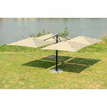 Four-head Rome Aluminum Umbrella(Square & Single top)