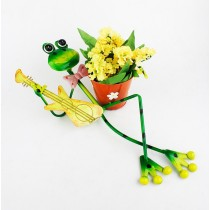 Frog Playing Guitar 52 cm Metal Planter