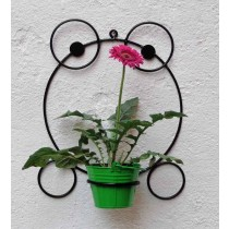 Frog Shape Bracket with Green Bucket Planter