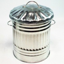 Galvanized Heavy Duty Steel Decorative Bin