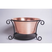 Antique Copper Finish Galvanized Metal Planter