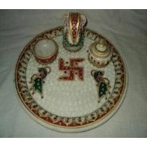 Ganesh Plate and Incense Burner Stand