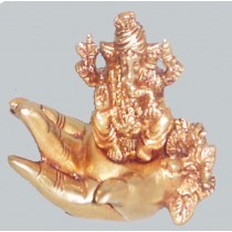 Ganesh Sitting On Hand Statue, 3 Inches