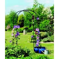 Garden Black Arch Obelisk