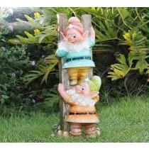 Garden Gnome Sculpture (Size 13.2 X 11.7 X 31.1 CM)