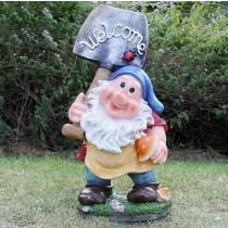 Garden Gnome Sculpture(Size 44.50 X 17.00 X 21.00 Cm)