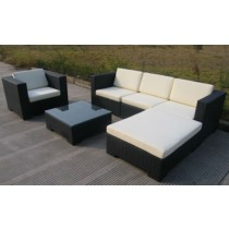 Garden PE Rattan Corner Sofa Set