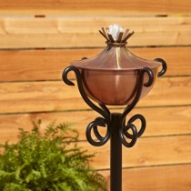 Garden Torch With Scroll Floor Stand