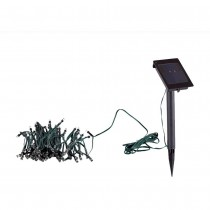 Garden White LED Solar String Light Set