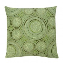 Geometric Pattern Green 24 Inch Cushion
