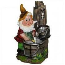 Gnome Dwarf Indoor Waterfall Fountain