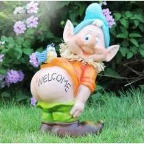 Gnome Garden Sculpture(Size 18.8  X 12.8 X 26.5 CM )