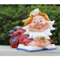 Gnome Holding Snail Garden Sculptures